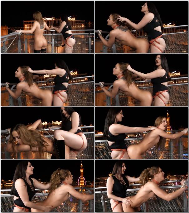 Ebony Lesbian Squirt Strapon